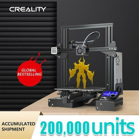 New Creality Ender 3 3D Printer High Precision 220x220x250mm Resume Print 1.75mm PLA ABS