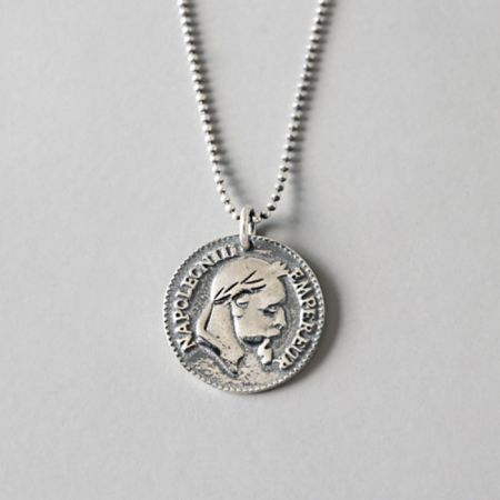 S925 silver coin pendant necklace