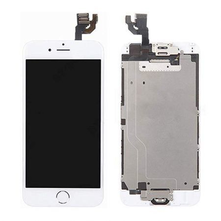 Screen Replacement Compatible iPhone 6 Plus White 5.5(inch) LCD Display, front glass+lcd display with touch screen digitizer assembly+screen frame ,Repair Tools(iPhone 6 Plus,White)