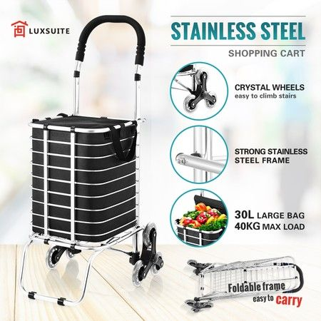 Collapsible Shopping Cart Shopping Trolley with Wheels