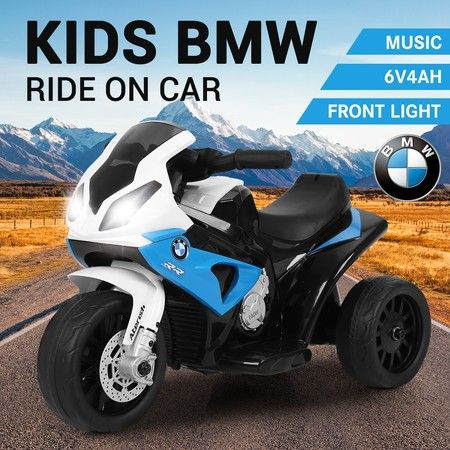 BMW S1000RR Motorcycle Kids Ride On Motorbike with 3 Non-slip Wheels Headlights