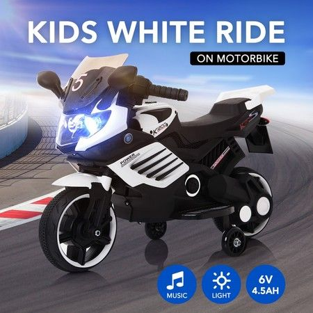 6V 4.5Ah Electric Kid Ride on Motor Bike Toy w/ Auxiliary Wheels