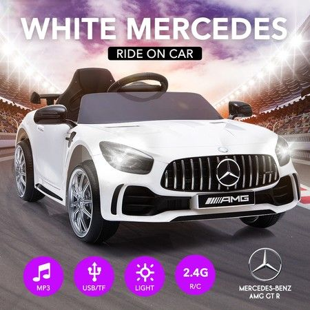 Electric Ride On Cars >> White Mercedes Children Electric Ride On Cars Rechargeable Kid Toys
