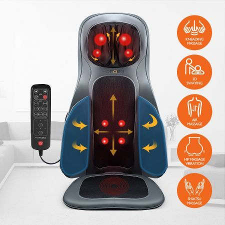 Air 3D Shiatsu Squeeze Kneading Massage Seat Cushion Car Seat Massager