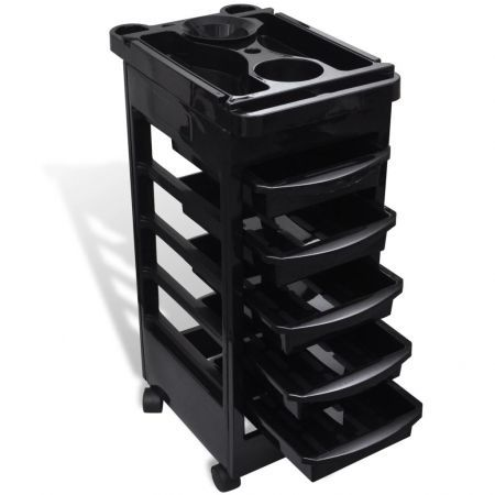 Hair Salon Trolley with Wheels Plastic