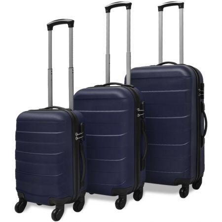 Three Piece Hardcase Trolley Set Blue