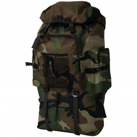 Army-Style Backpack XXL 100 L Camouflage