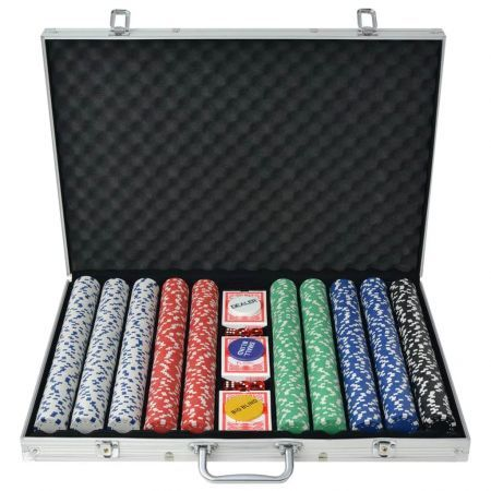 Poker Set with 1000 Chips Aluminium