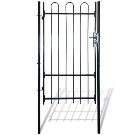 Fence Gate with Hoop Top 100 x 198 cm