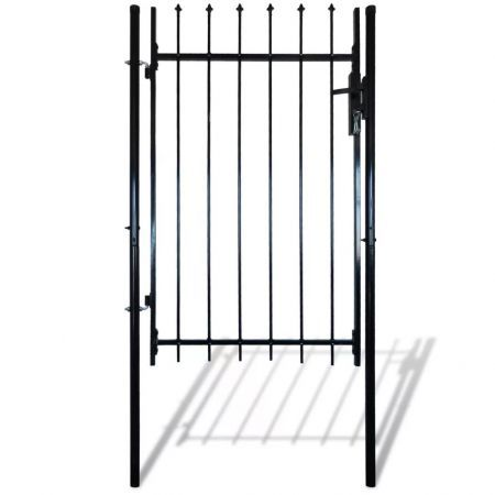 Single Door Fence Gate with Spear Top 100 x 120 cm