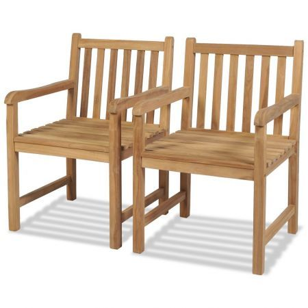 Cool Outdoor Chairs 2 Pcs Solid Teak Wood Inzonedesignstudio Interior Chair Design Inzonedesignstudiocom