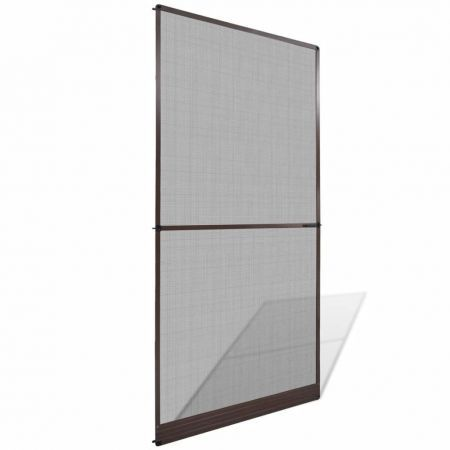 Brown Hinged Insect Screen for Doors 120 x 240 cm