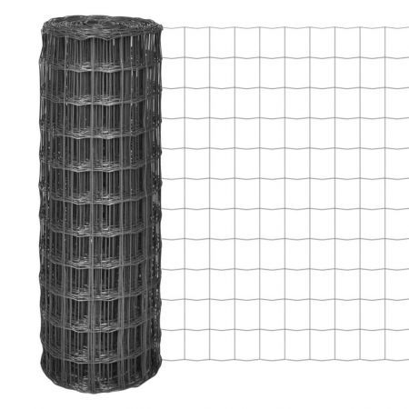 Euro Fence 25x1 m with 100x100 mm Mesh Steel Grey