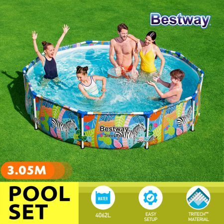 Bestway 3.05x0.66m Easy Set Above Ground Pool Family Swimming Center