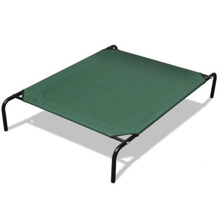 Elevated Pet Bed with Steel Frame 90 x 60 cm