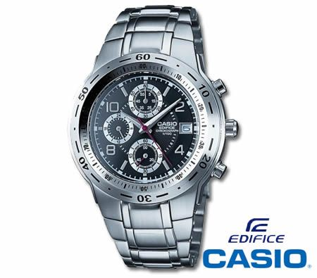 14ec807320b CASIO Edifice Chronograph Stainless Steel 100m Water Resistant Watch - Men  - EF-506D - Crazy Sales