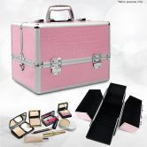 Nova Portable Cosmetic Beauty Makeup Carry Case Box - Pink