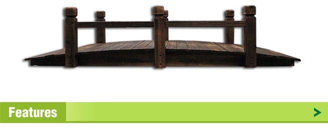 ... Wooden Garden Bridge With Side Rails ...