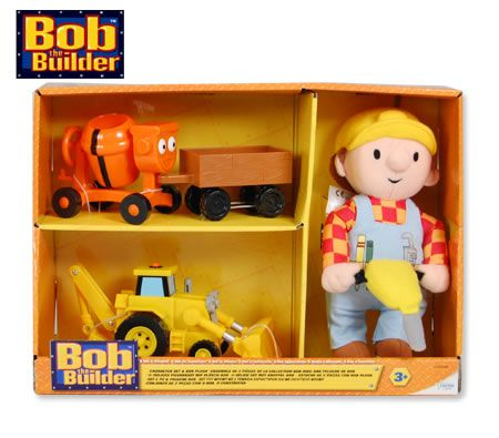 Bob the Builder Character Play Set & Bob Plush Toy