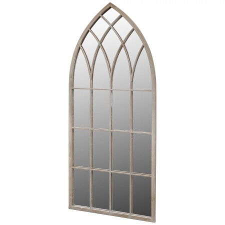 Gothic Arch Garden Mirror 115 x 50 cm for Both Indoor and Outdoor Use