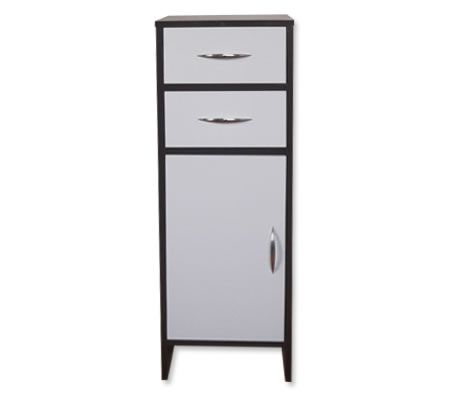 Single Door 2 Drawer Bathroom Floor Cabinet Storage Unit