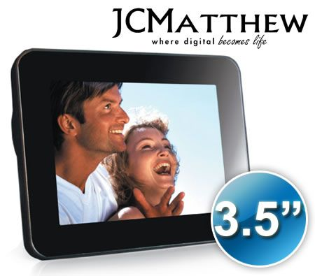 "JCMatthew 3.5"" Digital LCD Photo Frame"