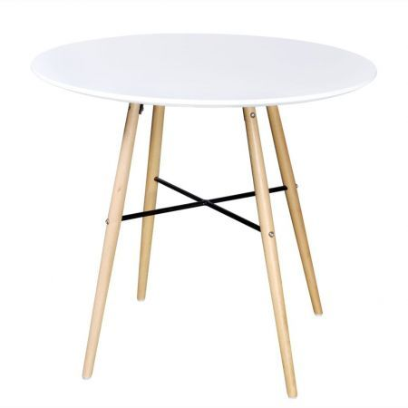 Dining Table MDF Round White