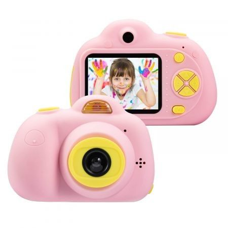 Kids Camera Gifts for 4-8 Year Old Girls, Shockproof Cameras Great Gift Mini Child Camcorderr for Little Girl with Soft Silicone Shell for Outdoor Play,Pink