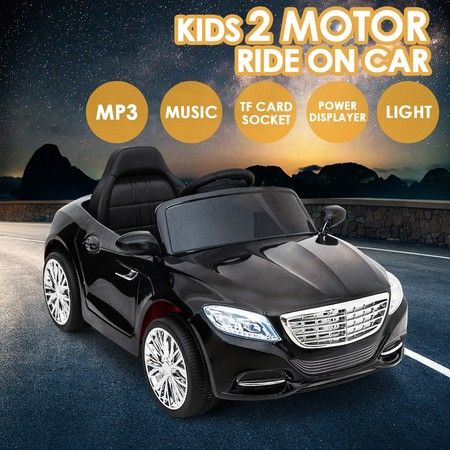 Remote Control Kids Electric Ride On Car Four Wheels Toys 2 Motors w/Shock Absorbers