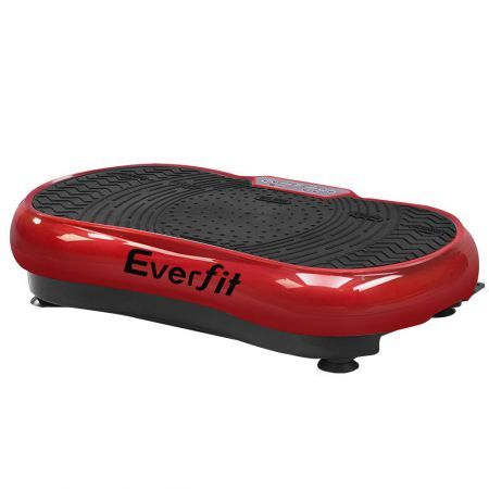 Everfit Vibration Machine Plate Platform Body Shaper Home Gym Fitness Maroon