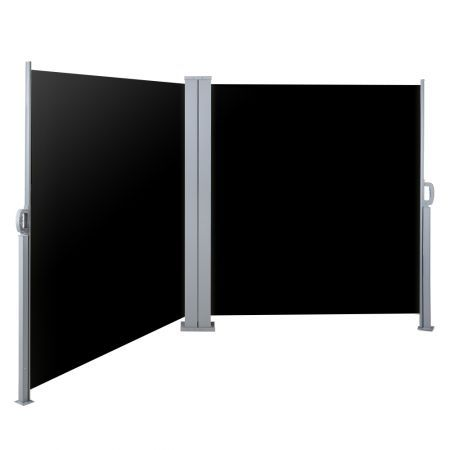 Instahut 2X6M Retractable Side Awning Garden Patio Shade Screen Panel Black