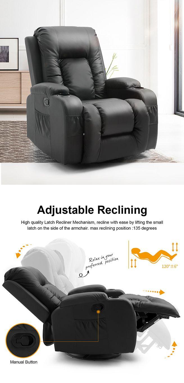 Electric Massage Chair Rocking Armchair Recliner Sofa