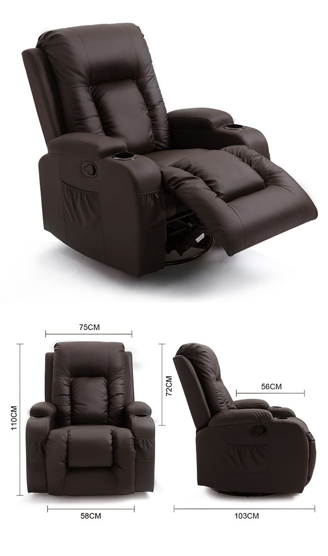 Electric Recliner Massage Chair Rocking&360 Swivel