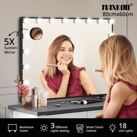 Maxkon Hollywood Makeup Mirror with 18 LEDs