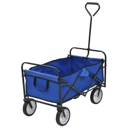 Folding Hand Trolley Steel Blue