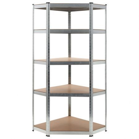 Storage Shelf Silver 75x75x180 cm Steel and MDF