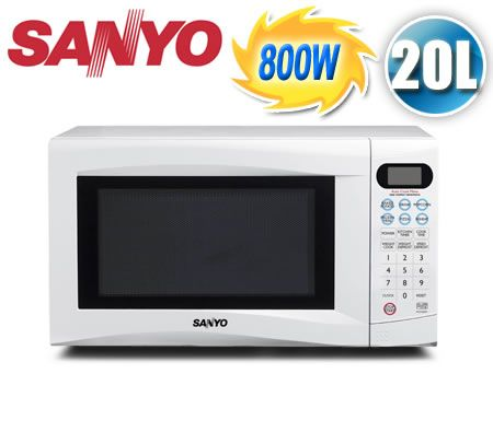 Sanyo 20 Litre 800w Compact Electronic Microwave Oven