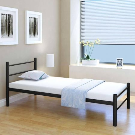 Bed Frame Black Metal King Single Size