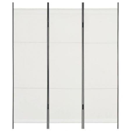 3-Panel Room Divider White 150x180 cm