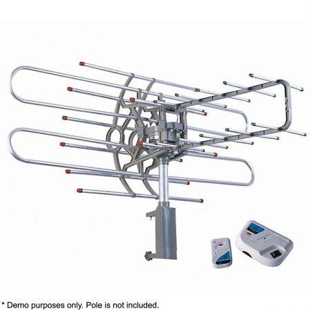 Outdoor remote controlled rotating uhf vhf tv antenna - Antena tv exterior ...