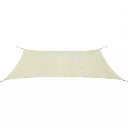 Sunshade Sail HDPE Rectangular 4x6 m Cream