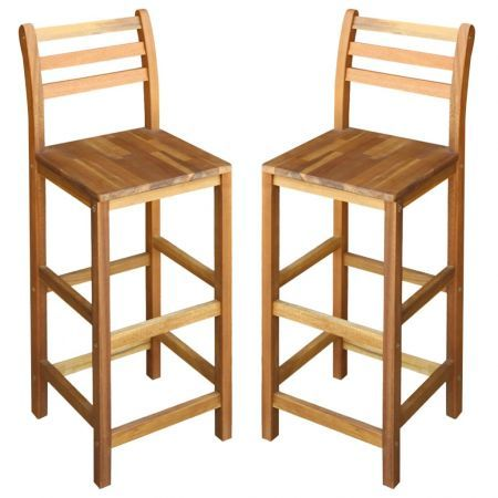 Bar Chairs 2 pcs Solid Acacia Wood 42x36x110 cm