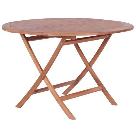 Folding Dining Table Solid Teak 120x75 cm