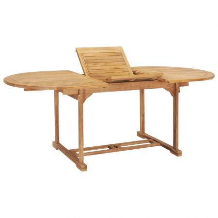 Extending Dining Table 150-200x100x75 cm Solid Teak Wood