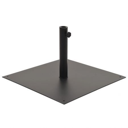 Parasol Base Black Steel Square 17 kg