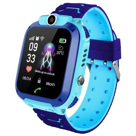 Q12B 1.44 inch Touch Screen Kids Smart Phone Watch Front-facing Camera SOS Call Safety Zone Alarm
