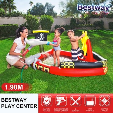 Pirate Ship Pool Inflatable Kiddie Pool Play Centre