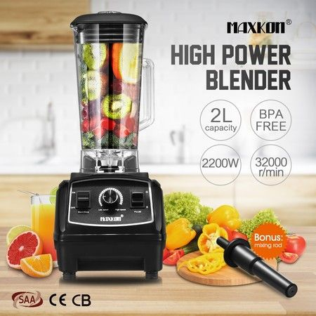Commercial High Speed Blender Smoothie Maker Food Mixers Juicer 2L Black
