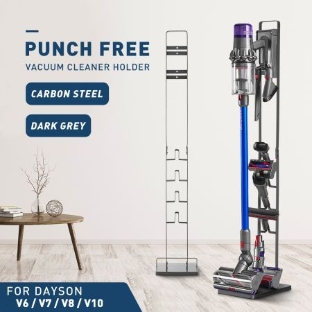 Vacuum Mounting Bracket Rack Hanger Standing Dock Cordless Cleaner for Dyson V7 V8 V10 Deep Grey