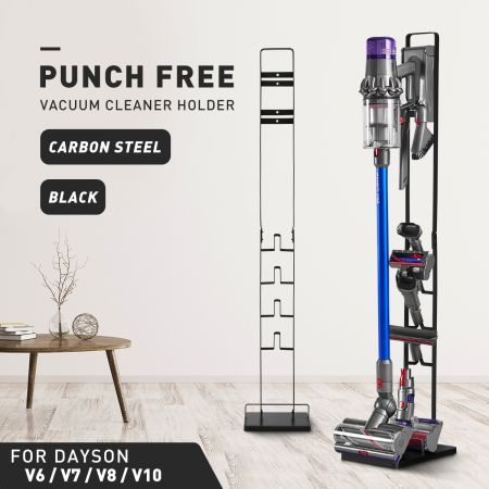 Vacuum Mounting Bracket Rack Hanger Standing Dock Cordless Cleaner for Dyson V7 V8 V10 Black
